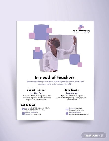 16+ Tutoring Flyer Designs & Examples - AI, PSD, PDF | Examples