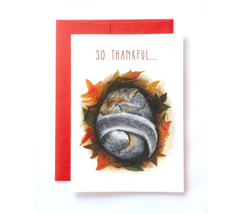 thank you card fall greeting card