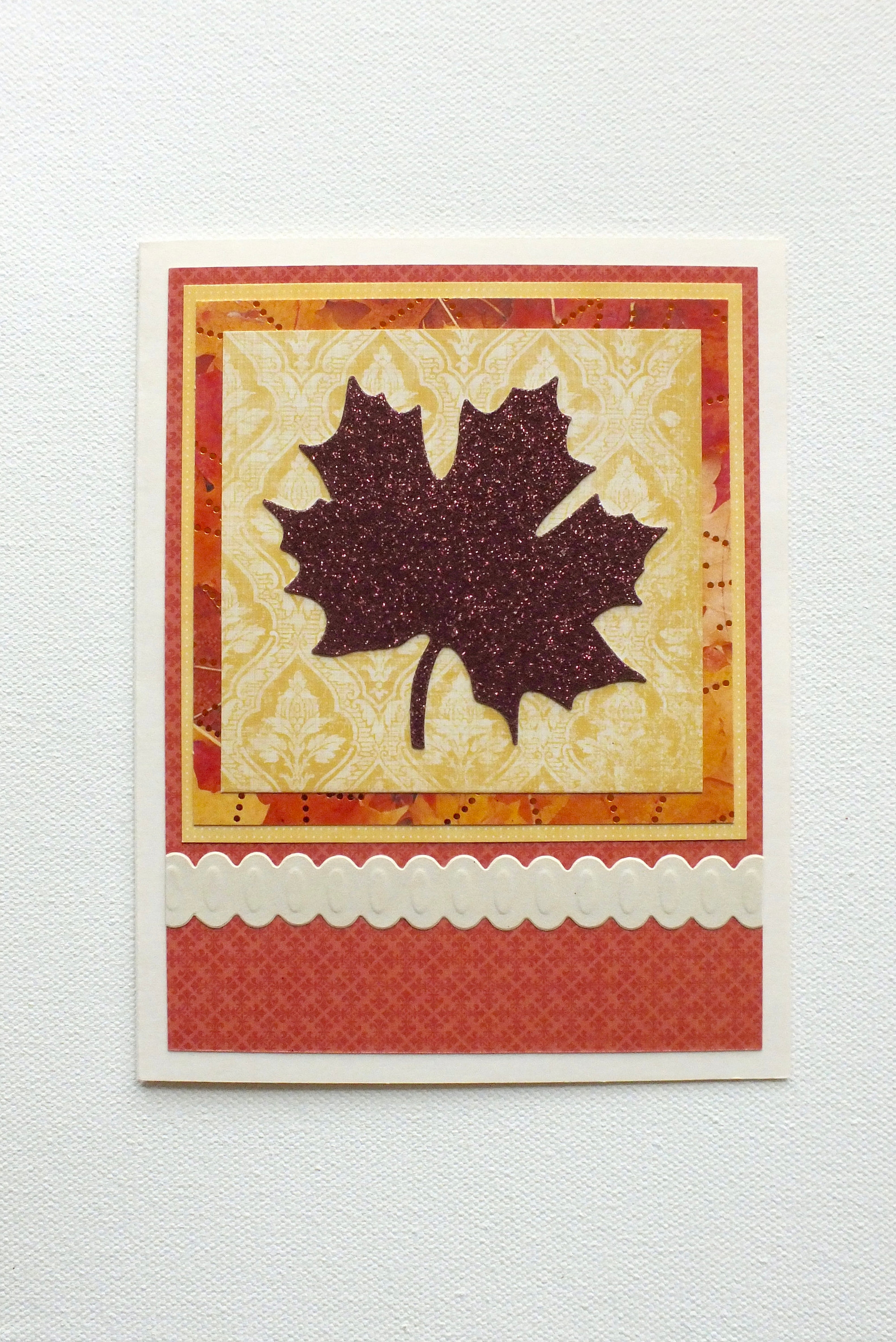 thanksgiving card autumn leaf card