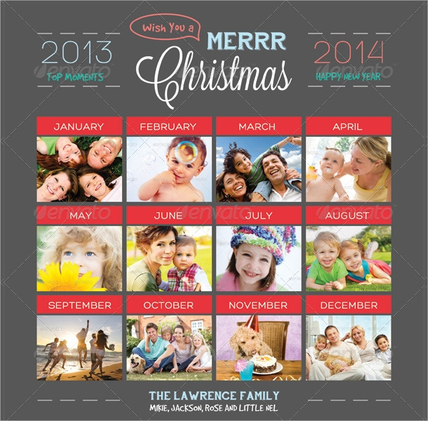 top moments holiday greeting photo collage card
