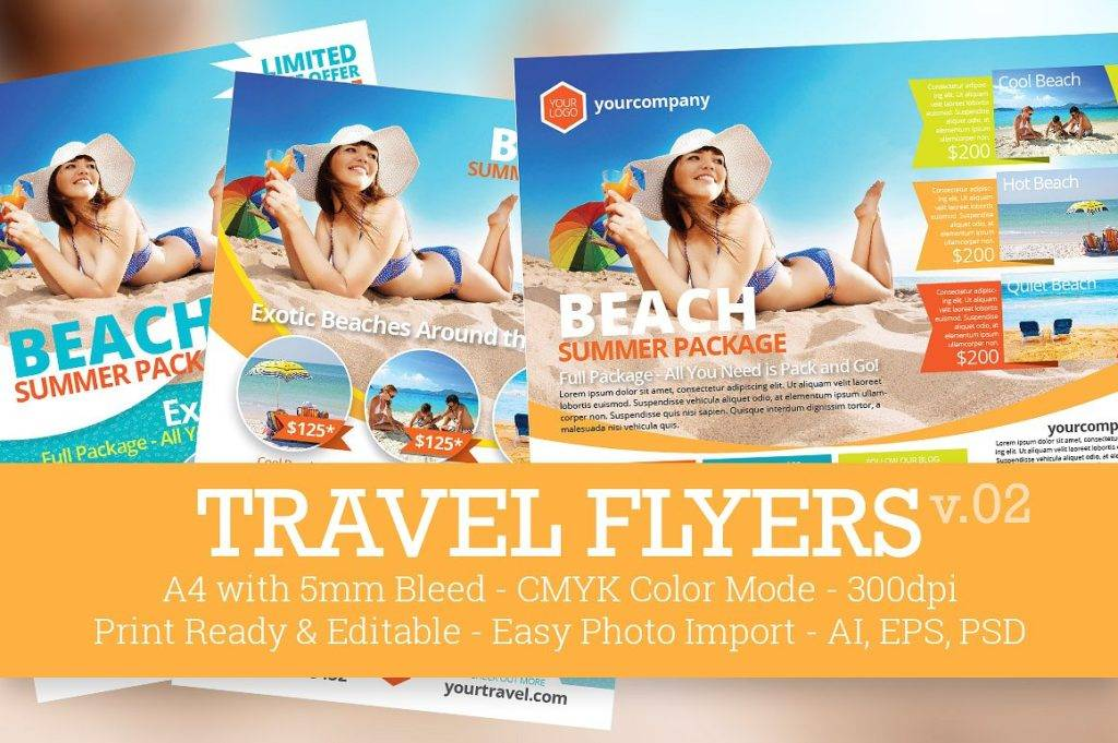 travel promotional flyers