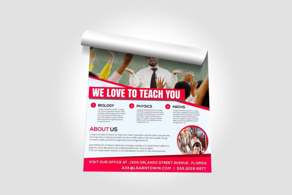 tutoring academy flyer