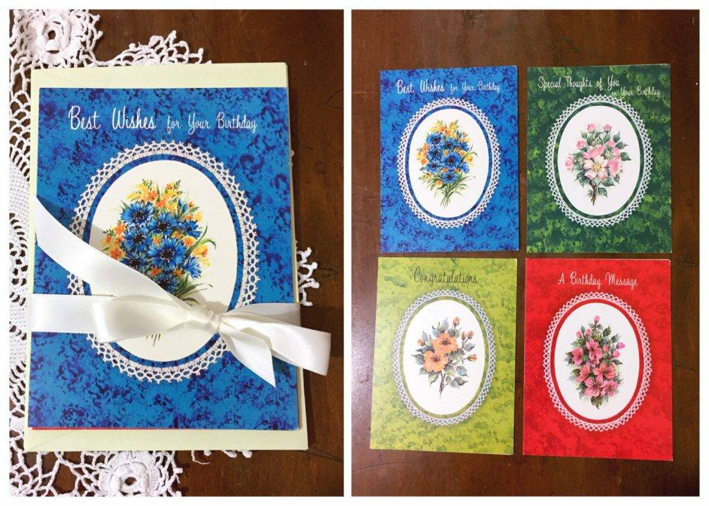 unused vintage greeting cards and envelopes