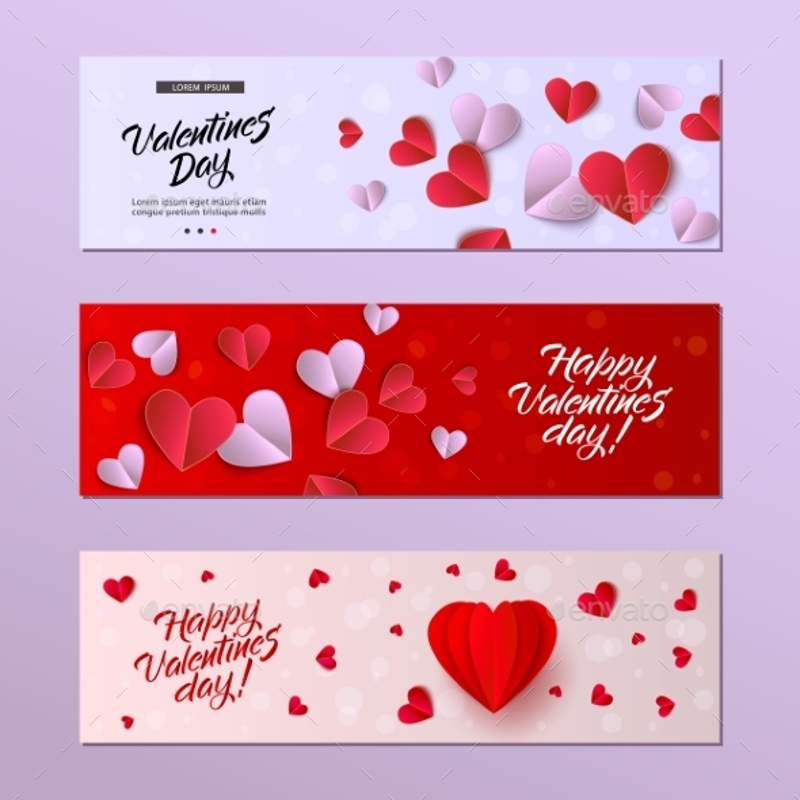 vector valentines day card template