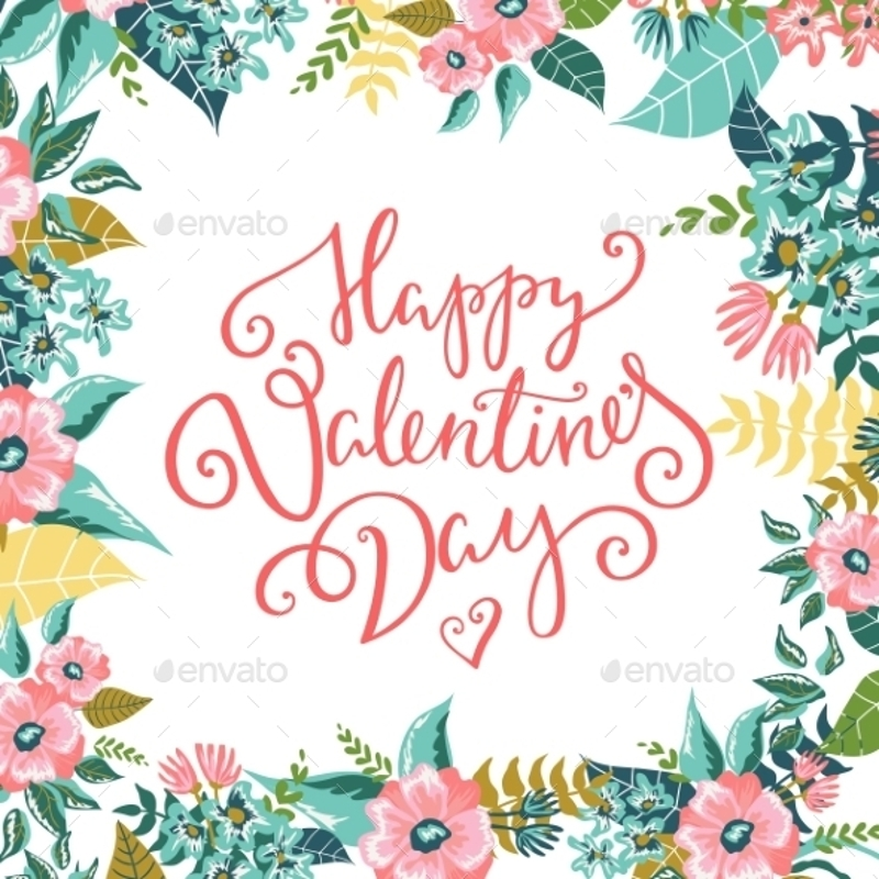 watercolor happy valentines day card