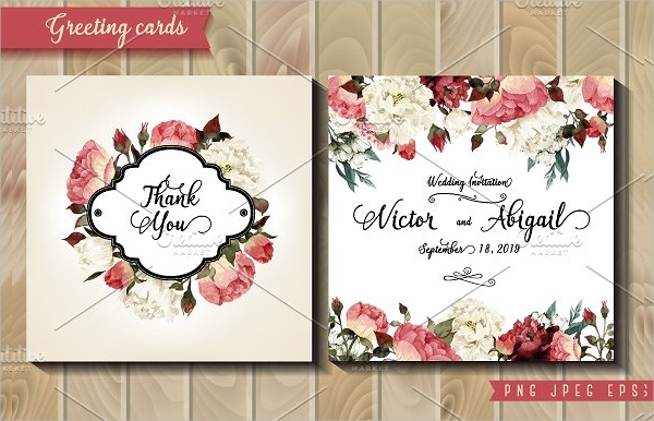 watercolor wedding greeting card