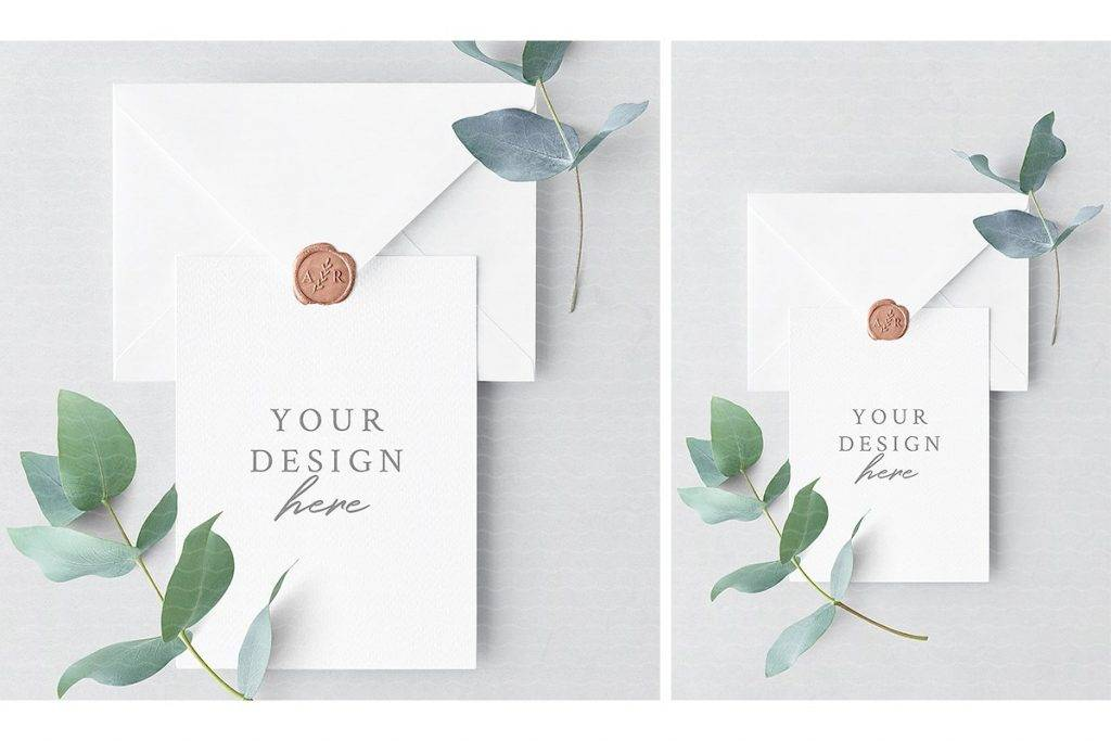 Wedding Invitation Card and Envelope