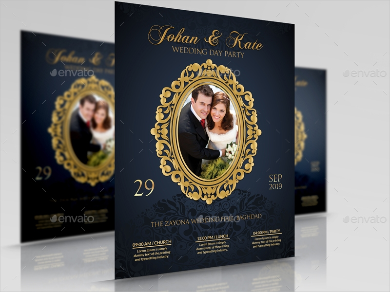 Wedding Flyer Designs  Examples  Psd Ai