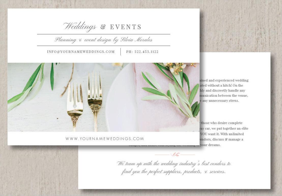 wedding planning marketing template