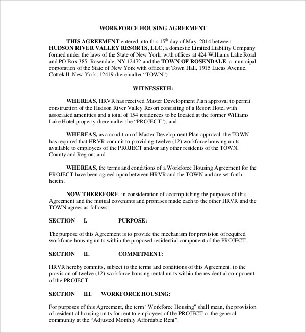 workforce housing agreement