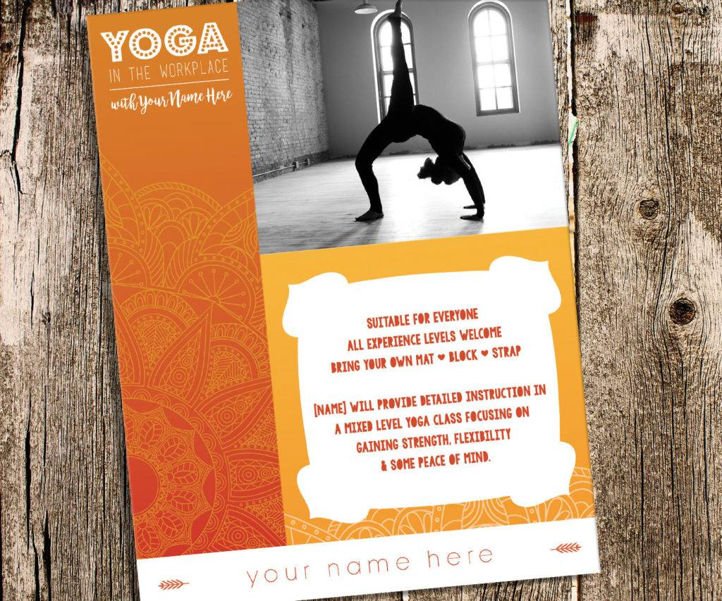 yoga flyer class workshop flyer