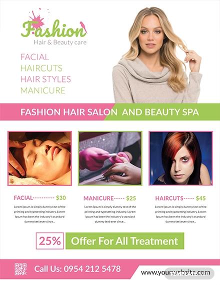 free fashion salon flyer1