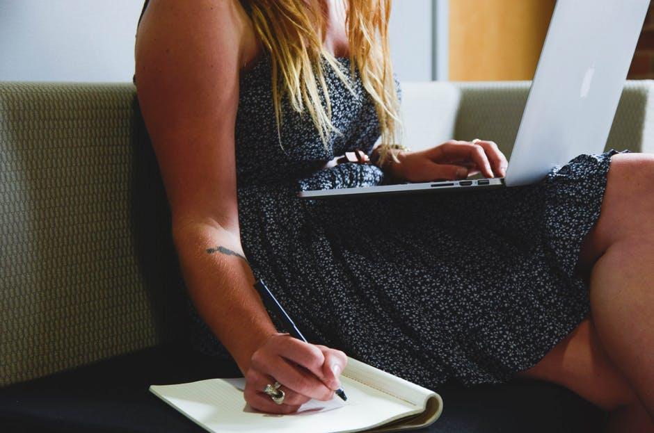 people woman girl writing1