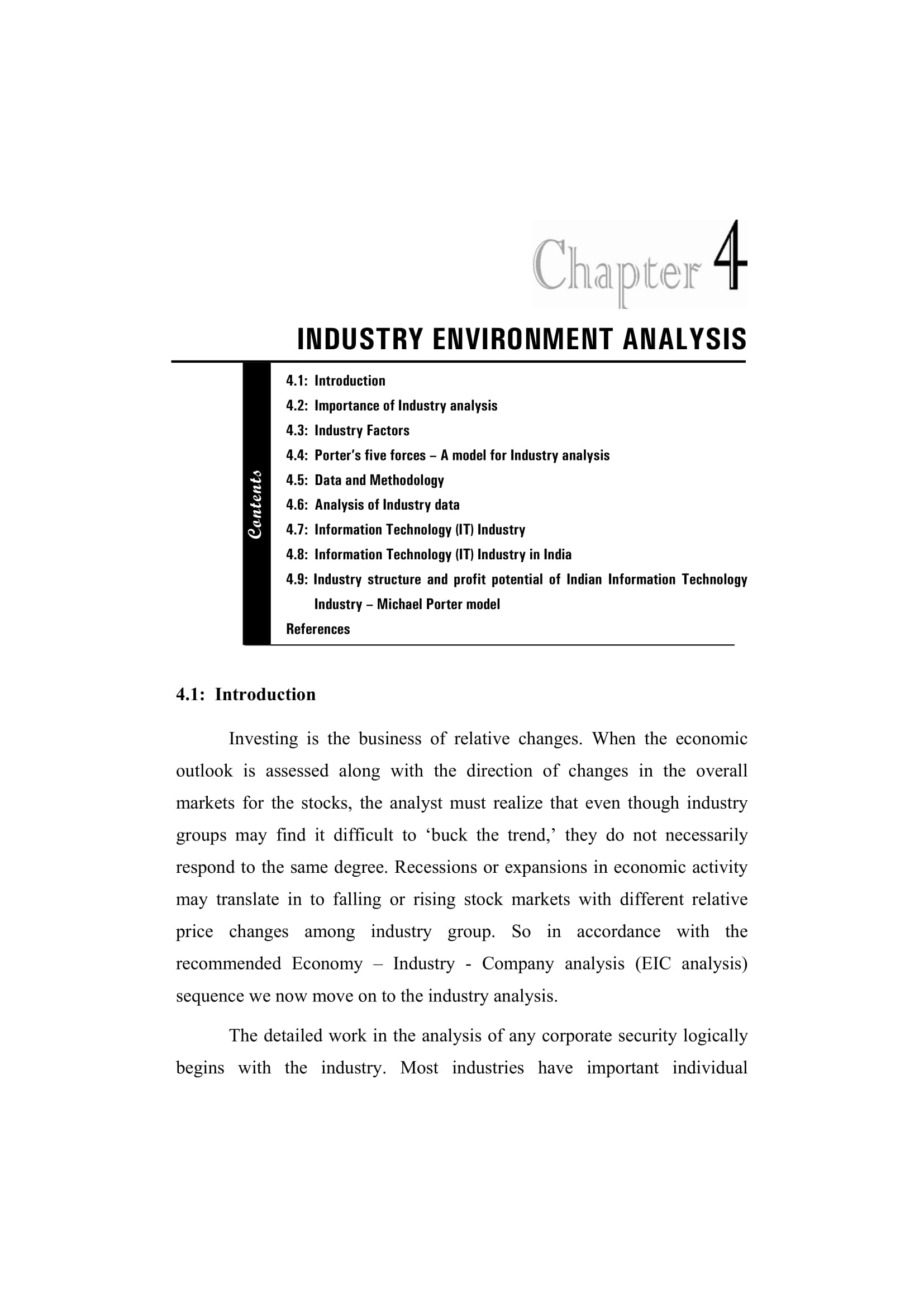 Industry Environment Analysis Example  Industry Analysis Example