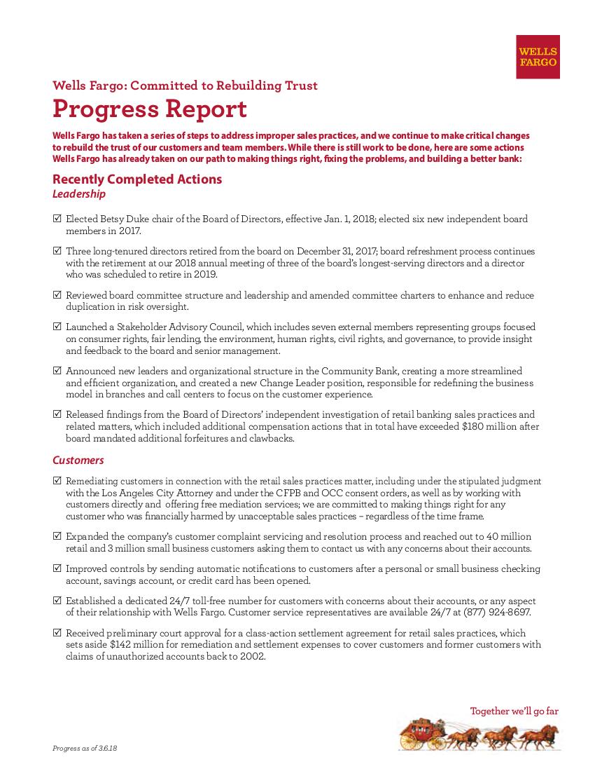 sales progress report sample