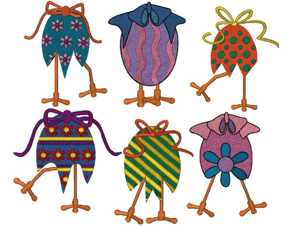 6 easter eggs design pack