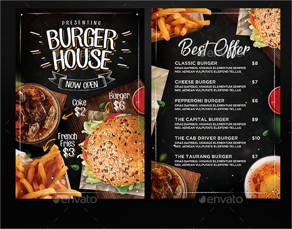6 in 1 burger menu set