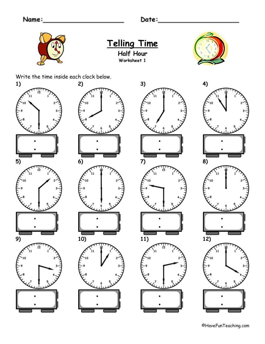 9 time worksheets examples in pdf telling time half hour worksheet example ibookread ePUb