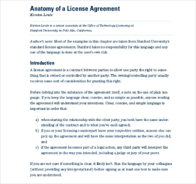 anatomy of a license agreement1