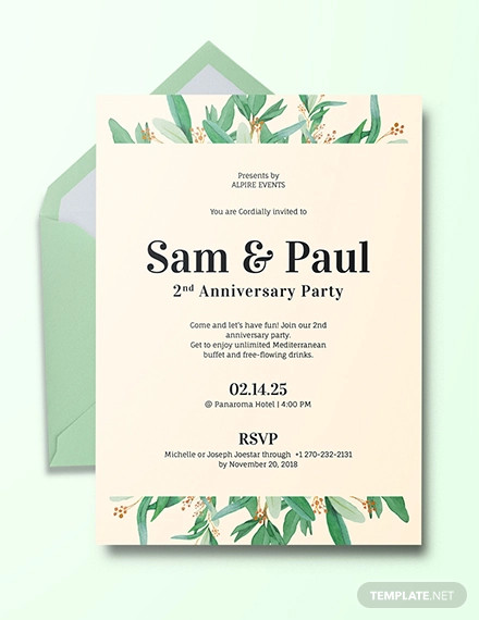 anniversary invitation example