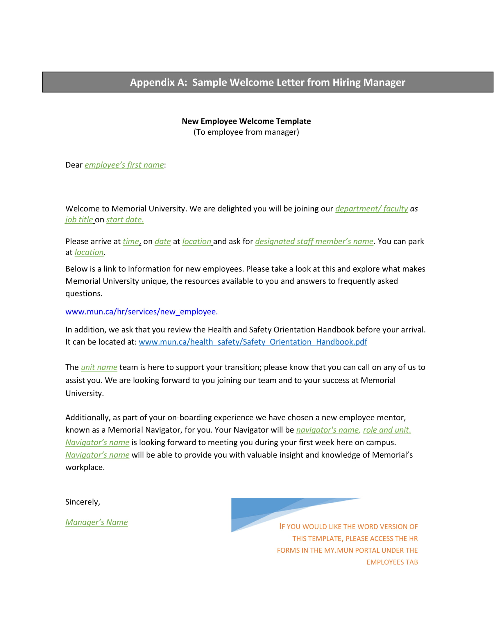 9+ New Hire Welcome Letter Examples - PDF | Examples