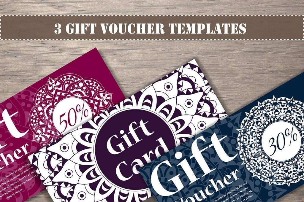 artsy gift voucher templates