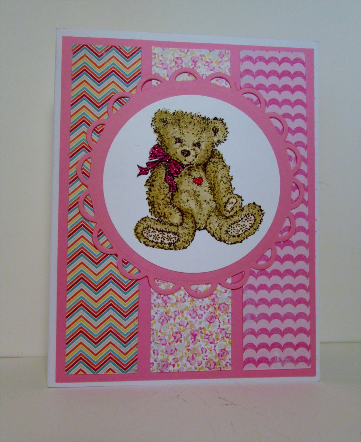 baby girl baby shower greeting card