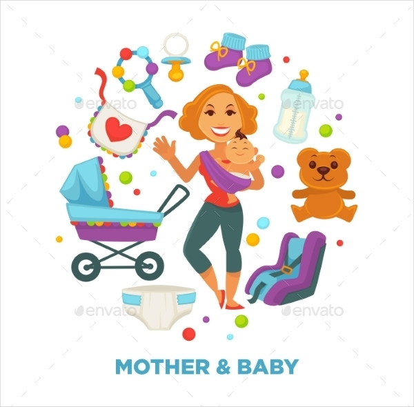 baby shower greeting card for boy or girl child