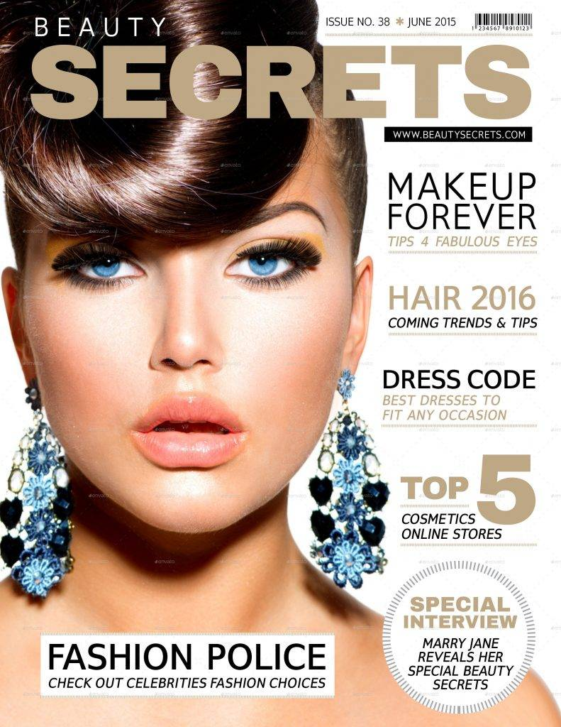 beauty magazine cover design