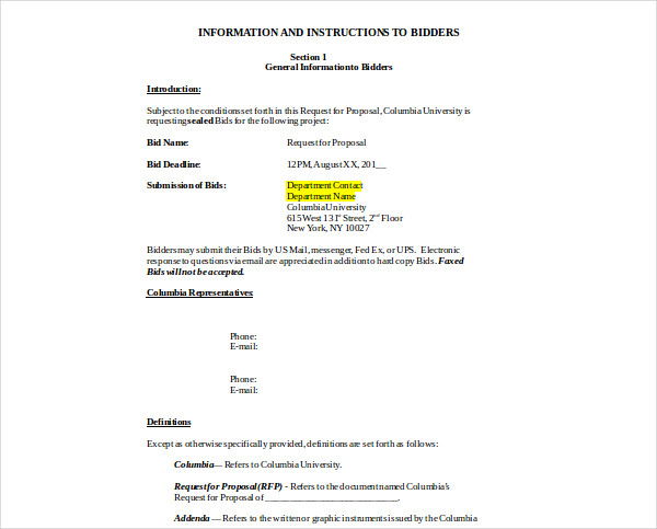 bidding contract request