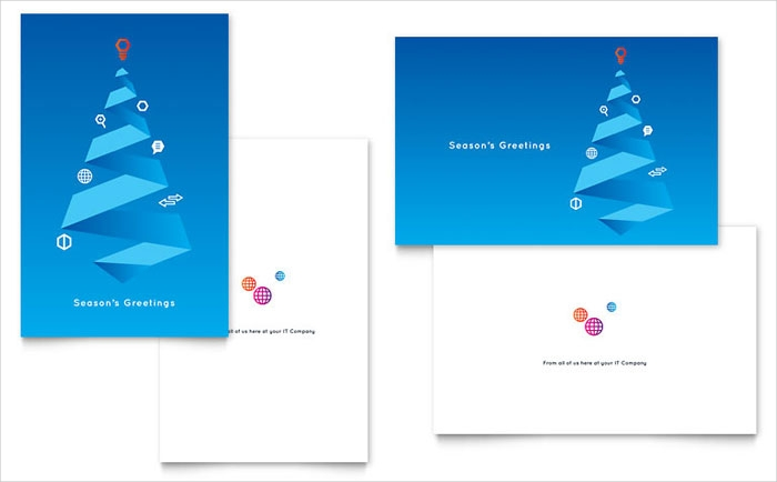 blank corporate season greeting card