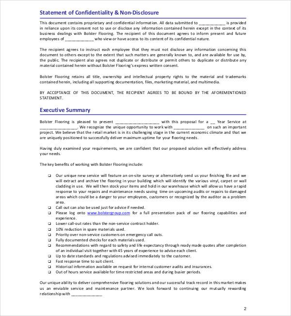 bolster flooring service agreement