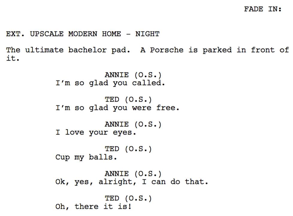 original screenplay outline examples  pdf