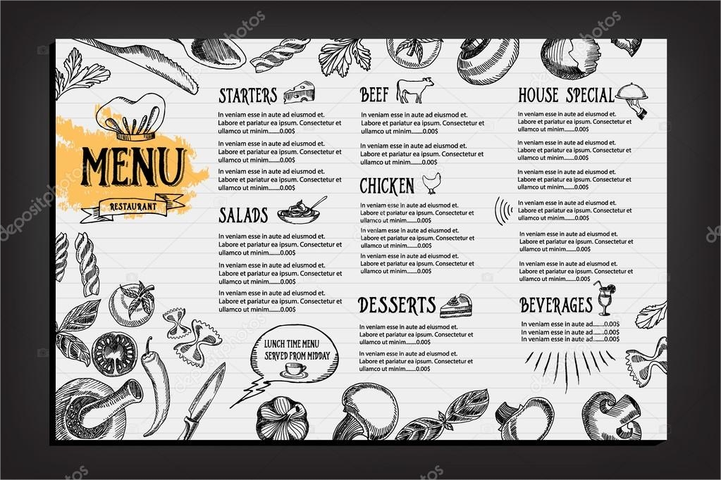 cafe restaurant menu free design1