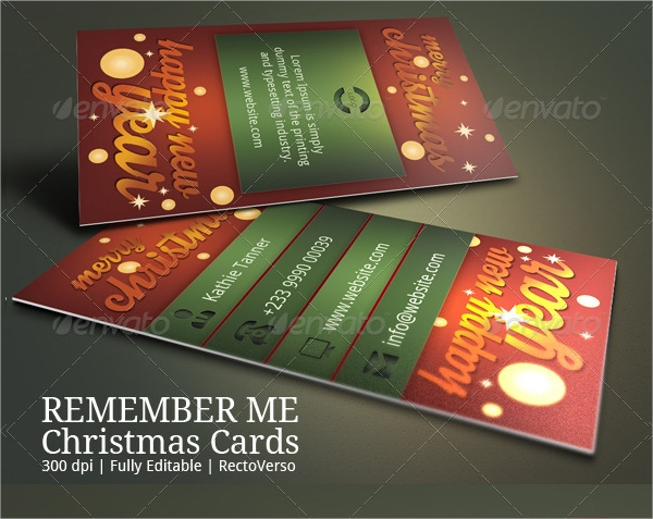 christmas greeting business card
