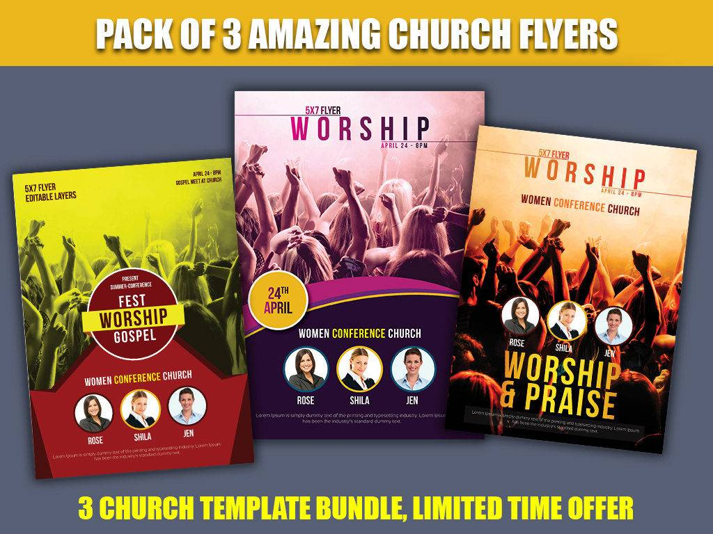 church flyer templates and designs bundle