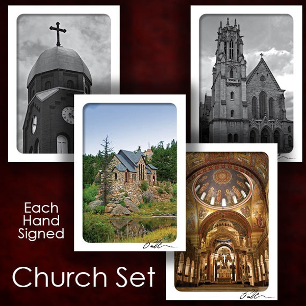 church greeting card sets