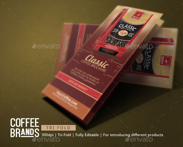 classic coffee brochure template