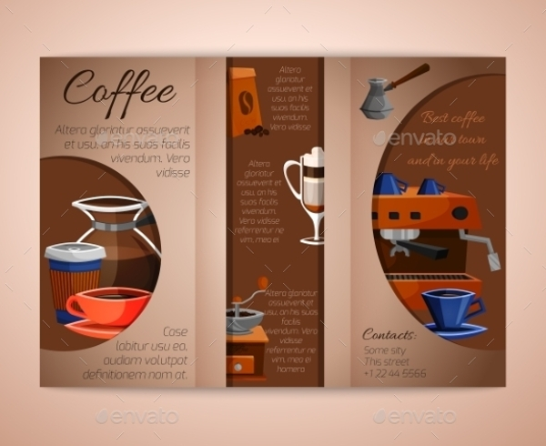 classic tri fold coffee brochure