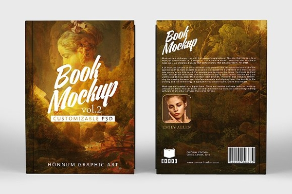 classical painting hard book cover design