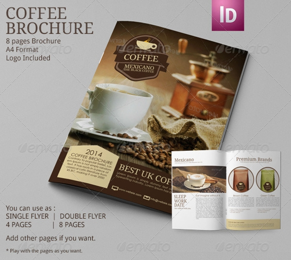 Coffee Shop Brochure Examples  Psd Ai
