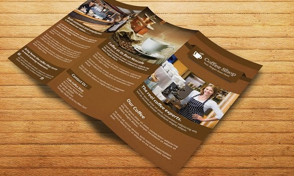 coffee shop restaurant tri fold brochure