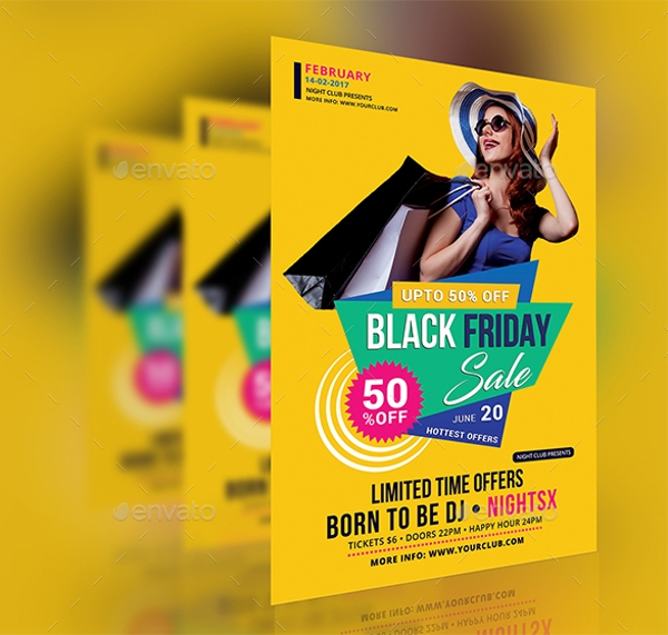 colorful black friday sale flyer