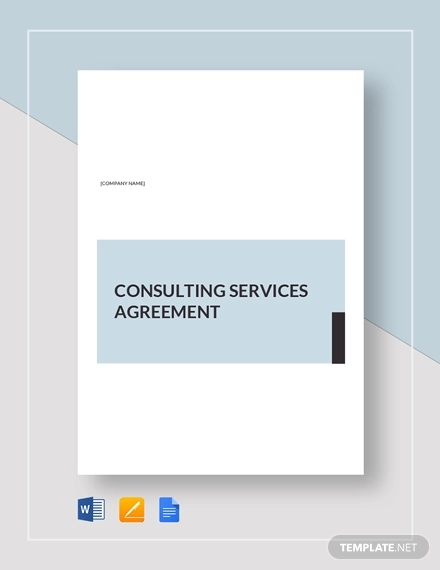 consulting services agreement sample