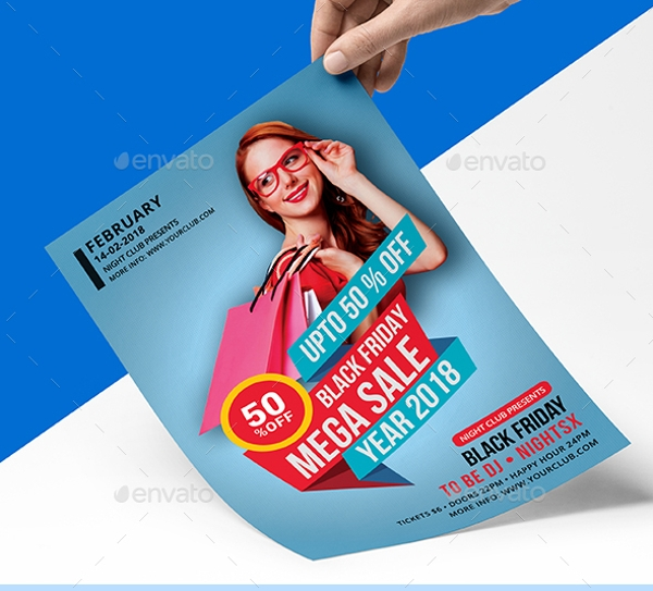cool black friday flyer template