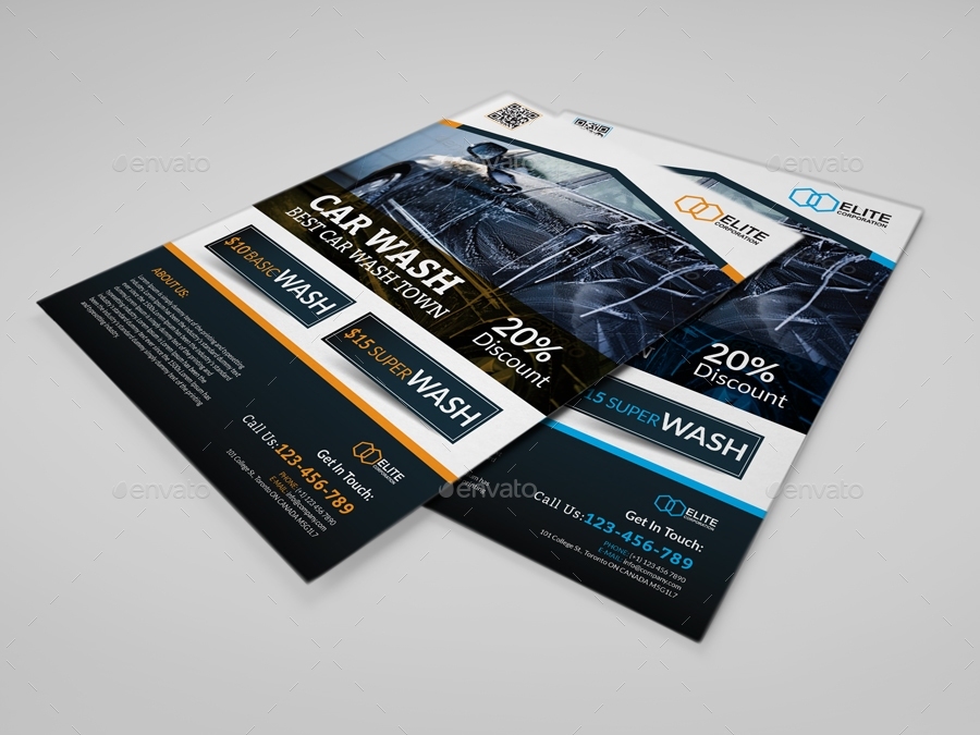 creative car wash flyer
