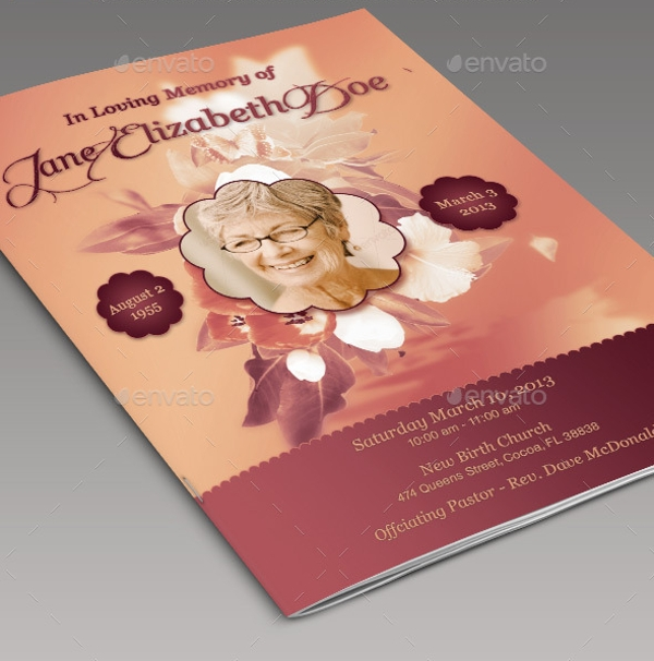 customizable funeral program flyer template