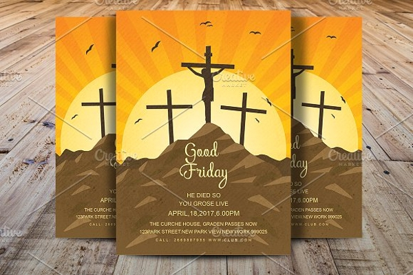customizable good friday flyer