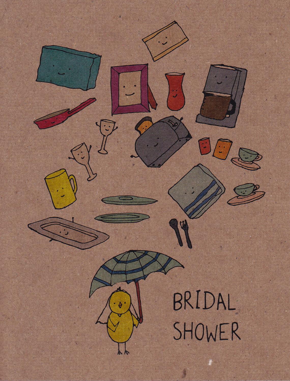 cute bridal shower greeting card
