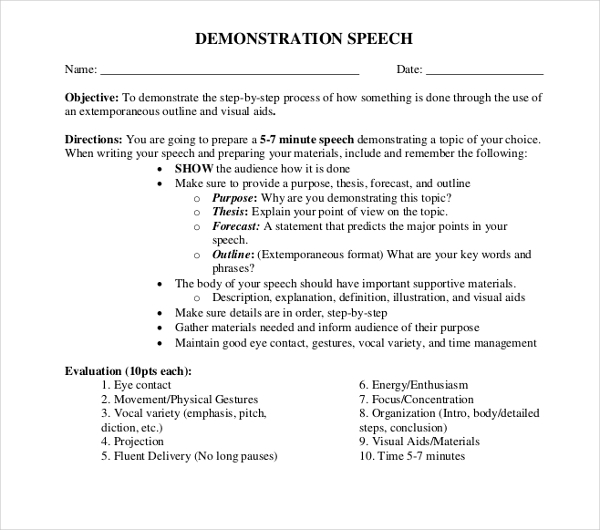procedure speech topics